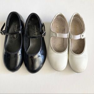 Lot of 2 Girls Tap Shoes Sz 12